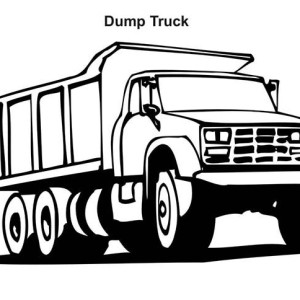 ford dump truck coloring page
