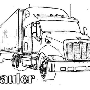 long hauler truck coloring page for kids