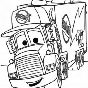 mack of car the movie pulling trailer coloring page - Semi Truck Trailer Coloring Pages