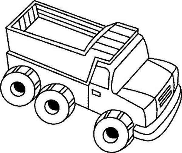 Trucks, : my-dump-truck-toy-on-dump-truck-coloring-page.jpg
