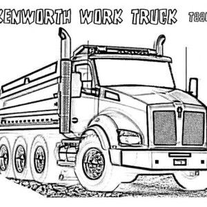 powerful kenworth dump truck coloring page semi trailer - Semi Truck Trailer Coloring Pages