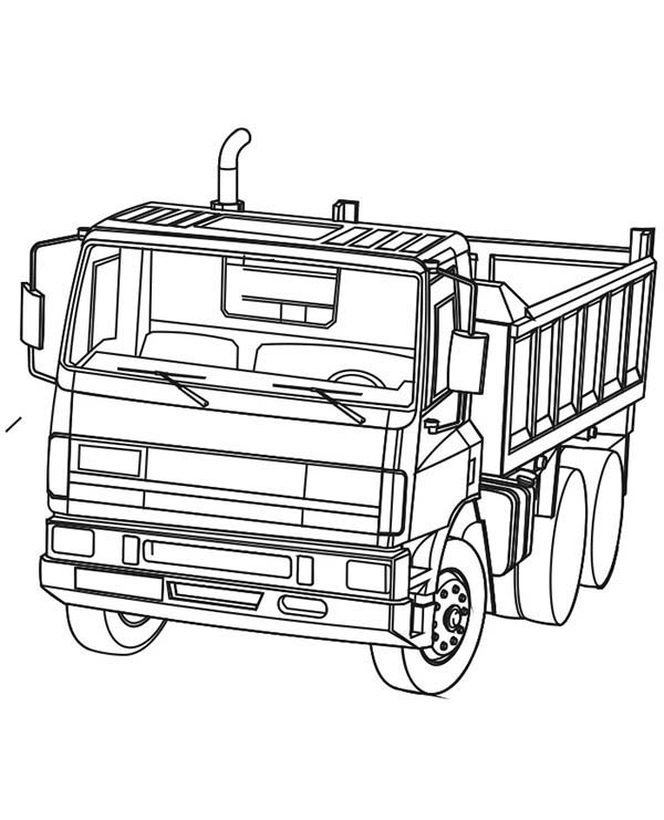 Trucks, : powerful-ready-to-work-dump-truck-coloring-page.jpg