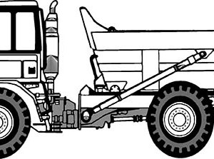 trailer dump truck coloring page trailer dump truck coloring page