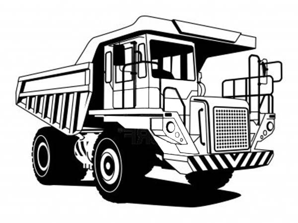 Super Dump Truck Capable Of Carrying Great Loads Coloring Page