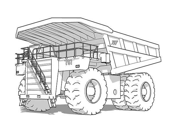 Caterpillar Truck Coloring Pages  Coloring Pages For Kids and All