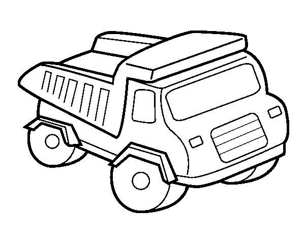 Trucks, : toy-of-a-dump-truck-coloring-page.jpg