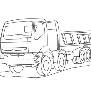 trailer dump truck coloring page
