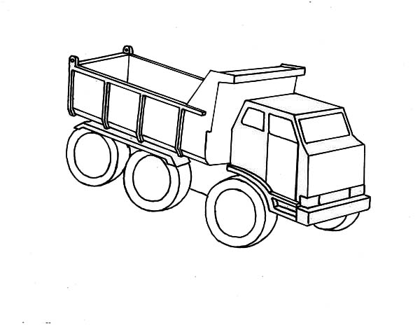 Trucks, : wooden-toy-of-dump-truck-coloring-page.jpg