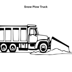 working snow plow truck coloring page