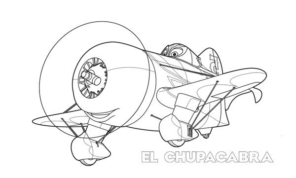 Disney Planes, : #5 El Chupacabra, the Mexican Legend Coloring Page
