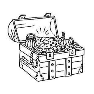 A Classic Medieval Treasure Chest Coloring Page  Kids Play Color