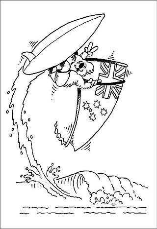 australia coloring pages printable coloring pages for kids and