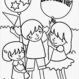 a group of kids celebrating australia day coloring page