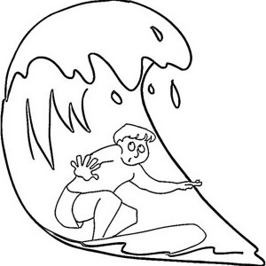 a guy doing a nice surfing on australia day coloring page