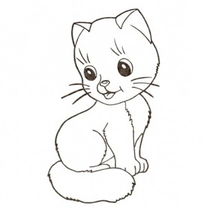 A Very Spoil Kitty Cat To Pet Coloring Page