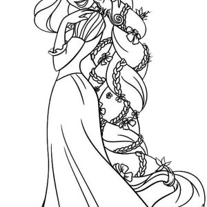 Disney Princess Coloring Pages Rapunzel Latest Images About On