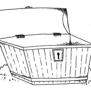 an empty wooden treasure chest coloring page - Open Treasure Chest Coloring Page