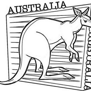 an illustration of kangaroo for australia day coloring page