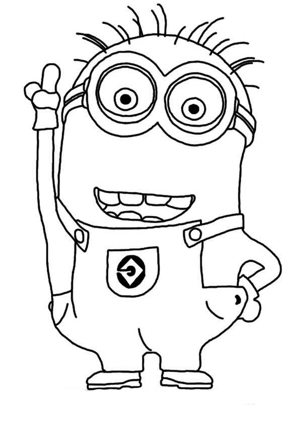 Minion, : Awesome Jerry The Minion Coloring Page