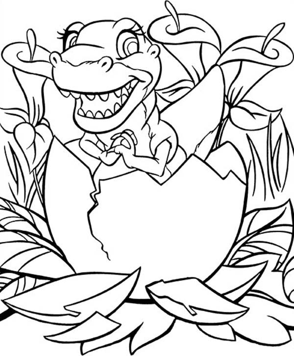 Land Before Time, : Baby Ducky Land Before Time Coloring Page