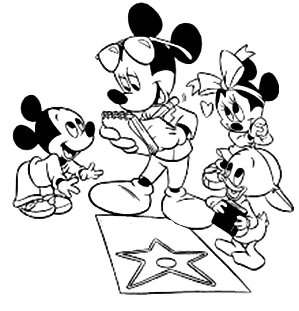 Mickey Mouse Clubhouse, : Baby Mickey, Baby Donald and Baby Minnie in Mickey Mouse Clubhouse Coloring Page