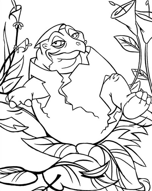 Land Before Time, : Baby Spike Land Before Time Coloring Page