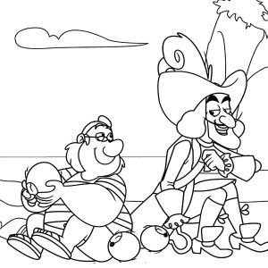 captain hook and smee coloring page - Jake Neverland Coloring Pages
