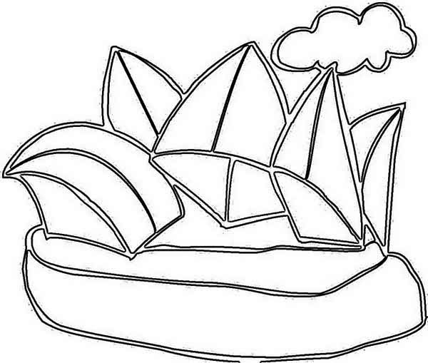 Australia Day, : Celebrating Australia Day in Sidney Opera House Coloring Page