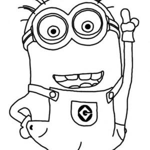 Crazy Dave The Minion Coloring Baby Minion Coloring Pages