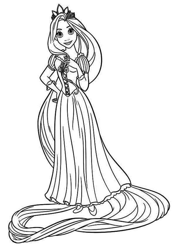 Rapunzel, : Disney Princess Rapunzel Coloring Page