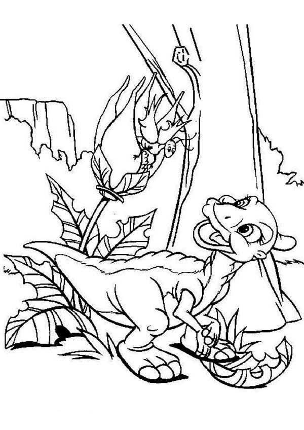 Land Before Time, : Ducky Meet Friend Land Before Time Coloring Page