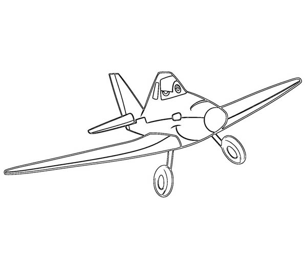 Disney Planes, : Dusty is Confident to Win the Race in Disney Planes Coloring Page