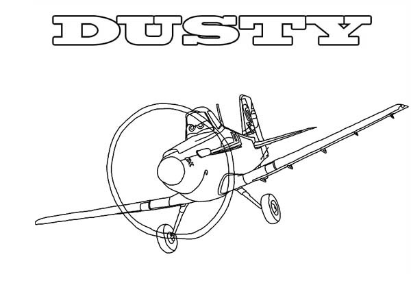 Disney Planes, : Dusty, the Main Character in Disney Planes Coloring Page