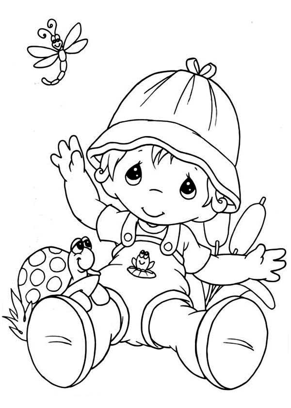 Precious Moments, : Forever Friends Precious Moments Coloring Page