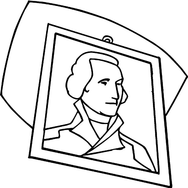 George Washington, : George Washington Died on December 14th 1799 in Mount Vernon Virginia Coloring Page
