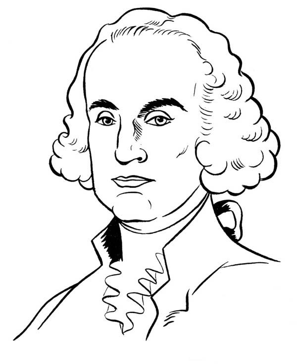 George Washington, : George Washington Lead the American People to Gain Their Independence Coloring Page