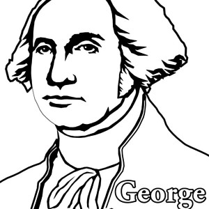 pdfpng preview image of coloring page young george washington
