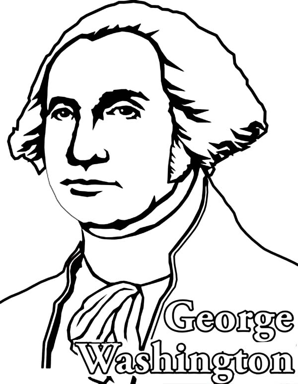 George Washington, : George Washington the Founding Fathers of the United States Coloring Page