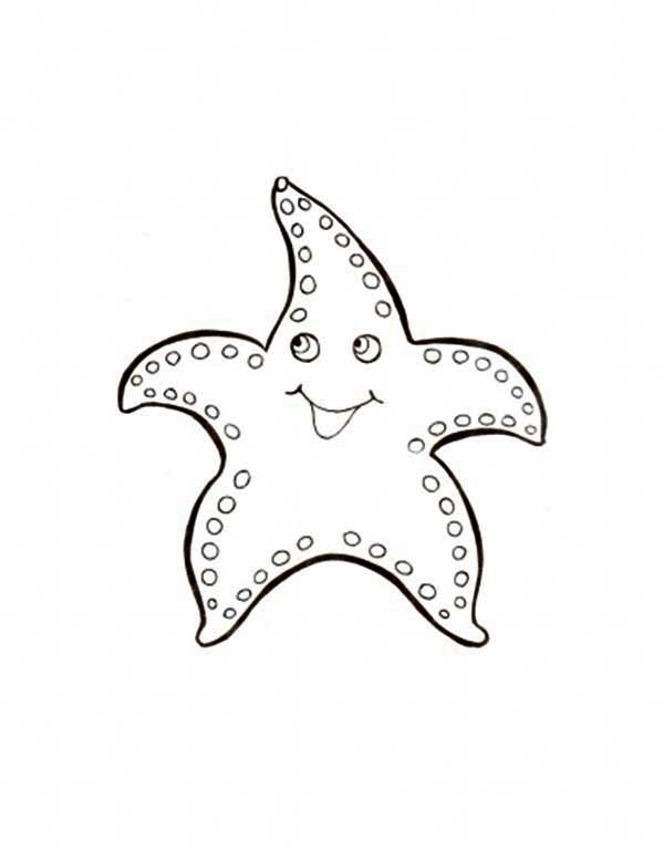 Starfish, : Huge Starfish Coloring Page