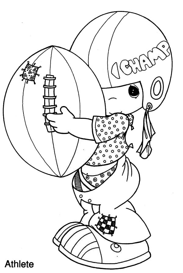 Precious Moments, : I am a Champion Precious Moments Coloring Page