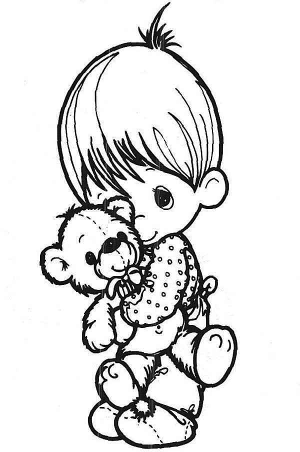 Precious Moments, : I'll Never Let You Go Precious Moments Coloring Page