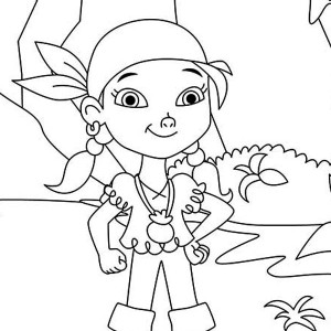 izzy the young pirate girl from the neverland pirates team coloring page - Jake Neverland Coloring Pages