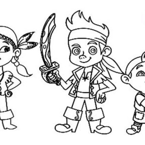 jake and the neverland pirates protecting the neverland coloring page