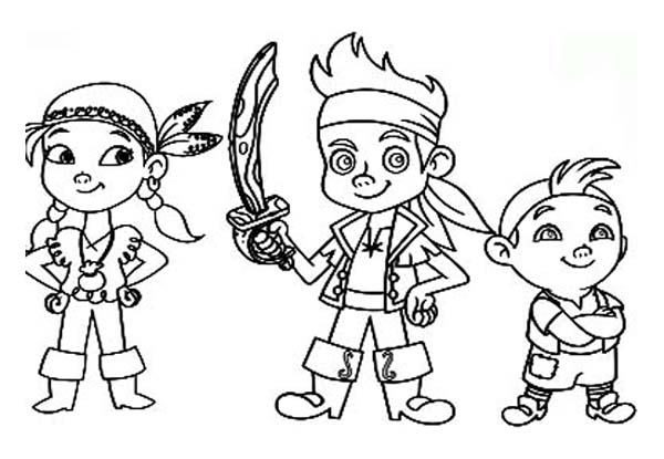 Jake and the Neverland Pirates, : Jake and the Neverland Pirates Protecting the Neverland Coloring Page