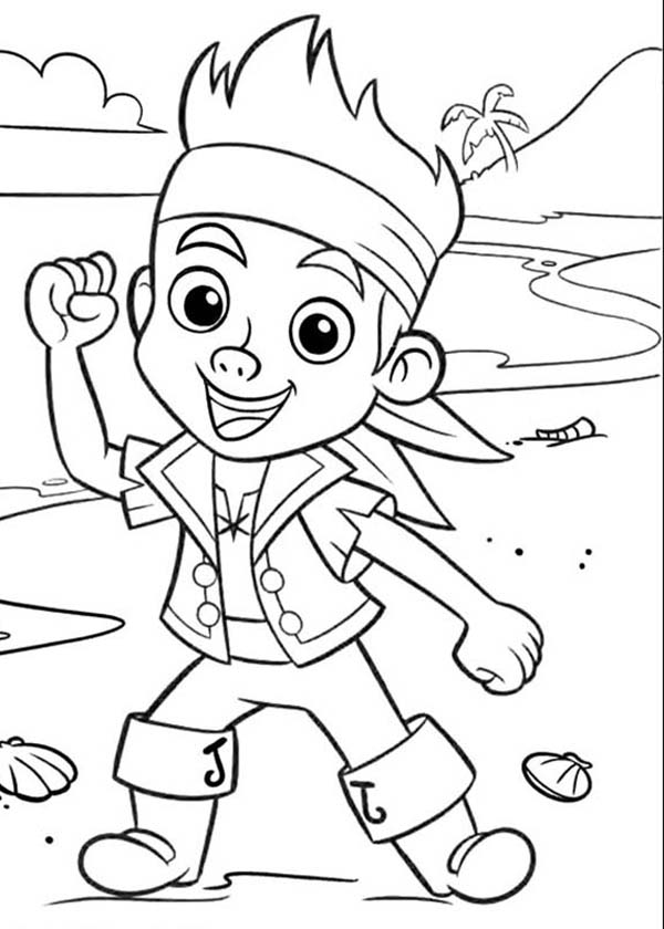 Jake and the Neverland Pirates, : Jake is Ready for the Next Adventure Coloring Page