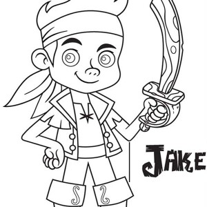 jake with his wooden sword from the forever tree coloring page