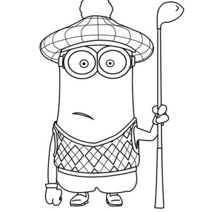 kevin the golfer the minion coloring page kevin the golfer the minion coloring page