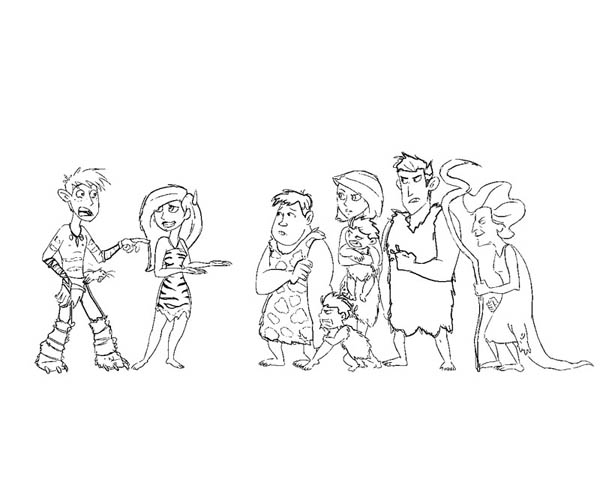 The Croods, : Kim Possible in the Croods Costume Coloring Page