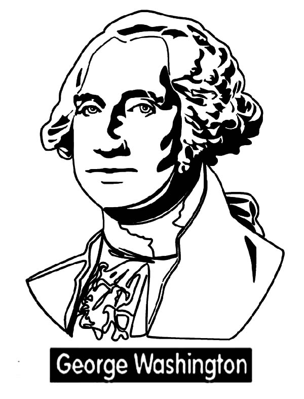 George Washington, : Learn the Biography of George Washington Coloring Page