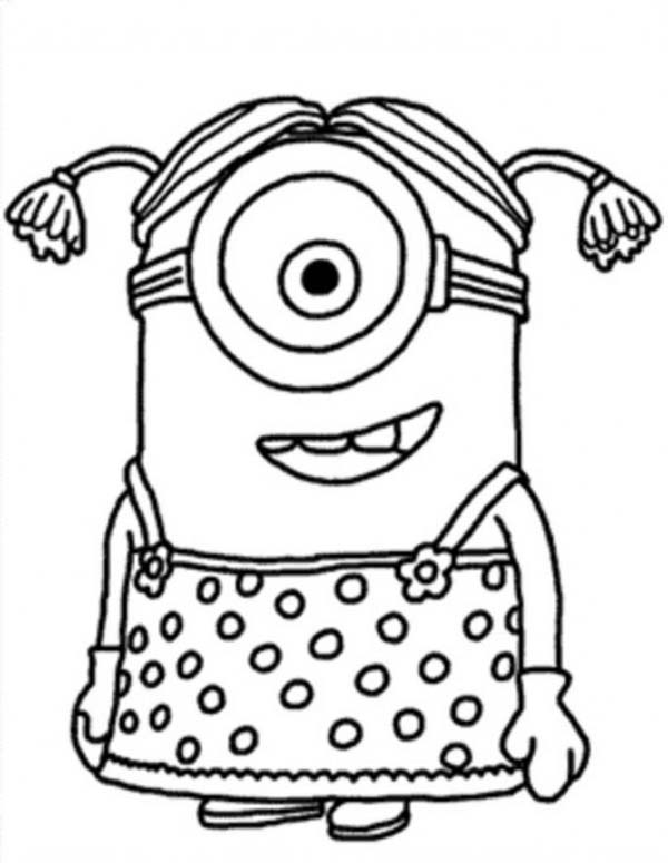 The Minion Coloring Page Baby Minion Coloring Pages